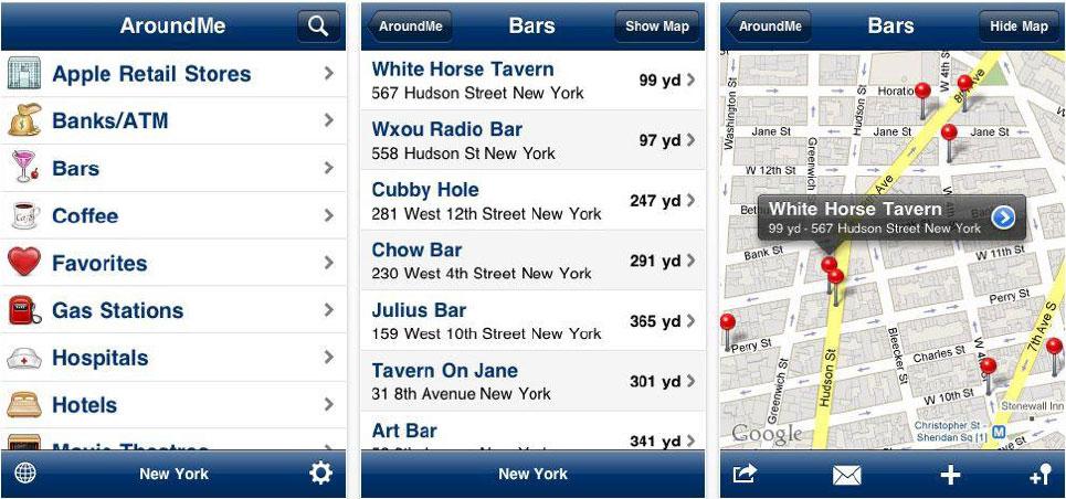 Mobile Reviews bei AroundMe