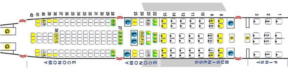 Sitzplatzvisualisierung bei Seatguru