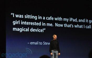 Präsentation von Steve Jobs über das iPad an der WWDC 2010