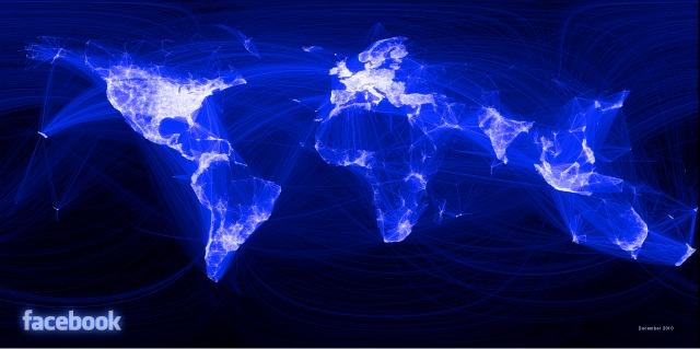 Visualisierung der Facebook-Beziehungen