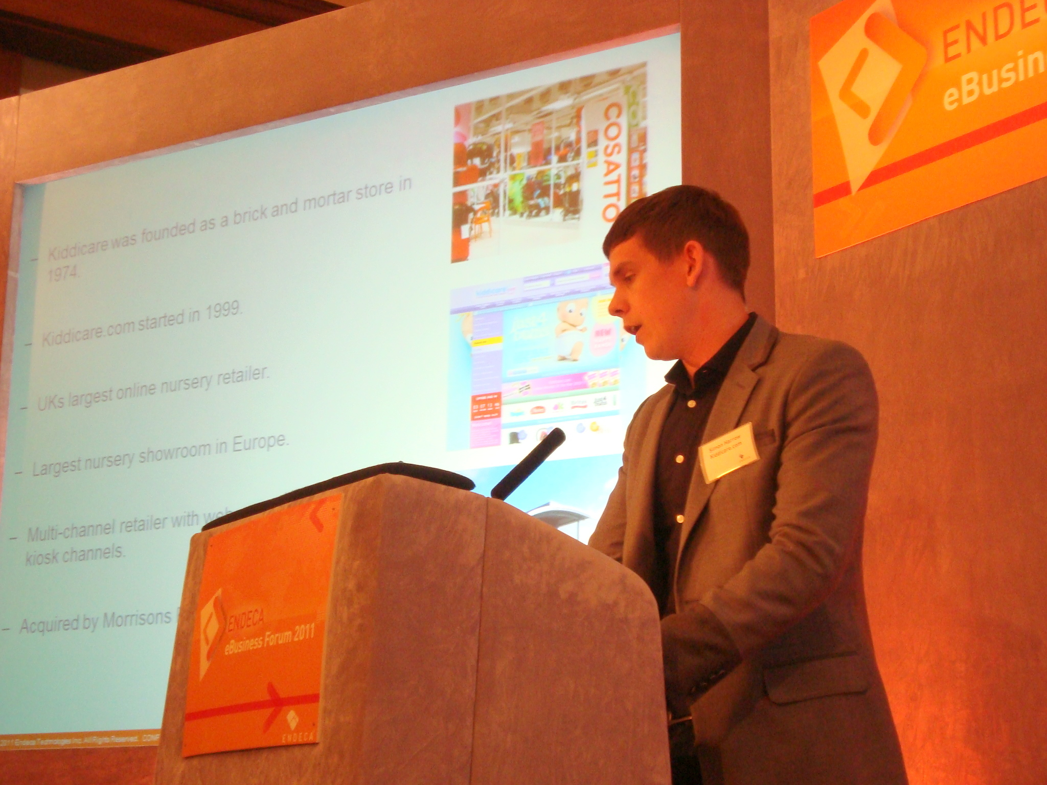 Kiddicare.com's Simon Harrow speaking about omni channel world at the Endeca eBusiness Forum 2011