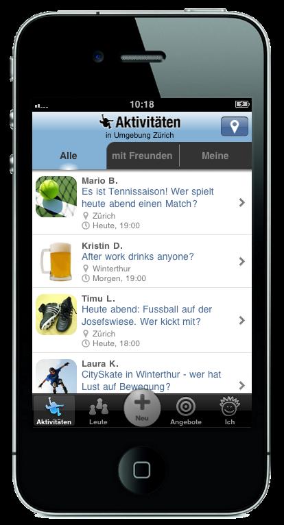 Spontacts-Freizeit-Aktivitaeten-iPhone-Bildschirm