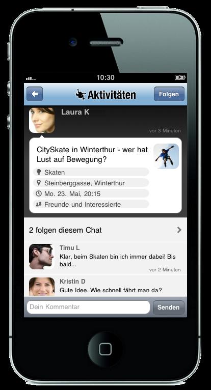 Spontacts-Freizeit-Chat-iPhone-App