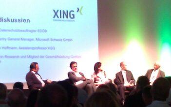Podiumsdiskussion Hanspeter Thür, Datenschutzbeauftragter EDÖB, Peter Waser, Country General Manager, Microsoft,