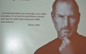 Steve Jobs über Innovation und Fehler begehen und korrigieren