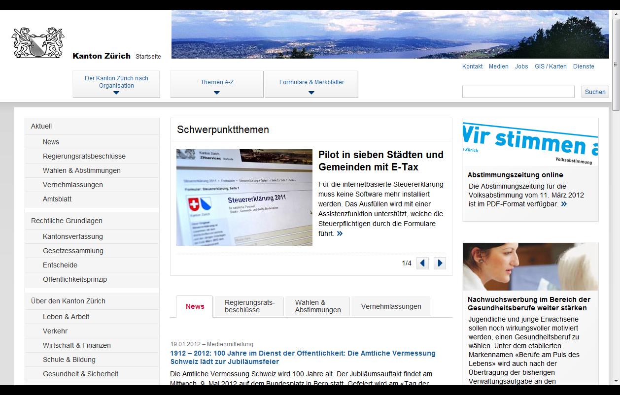 User Centered Design für die Erstellung der Website des Kantons Zürich