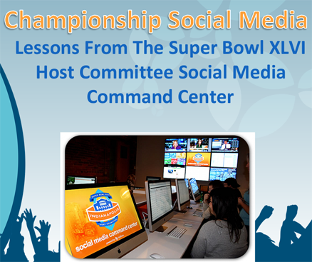 Host committee social media command center at Super Bowl 2012