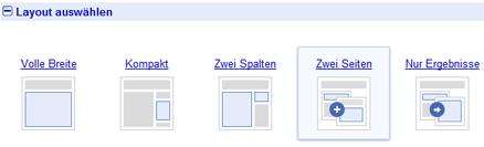 Anpassbares Verhalten der Google benutzerdefinierten Suche