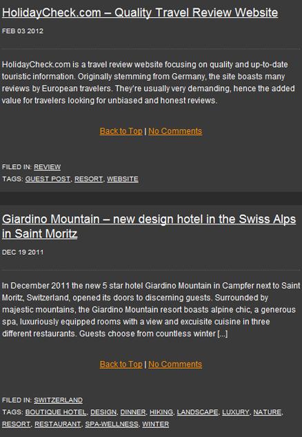 Wordpress Suche nach Giardino Mountain auf travelmemo.com