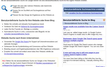 Startseite für eine eigene Google-Suchmaschine