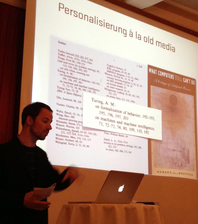 Martin Feuz' Vortrag am Internet Briefing in Zürich