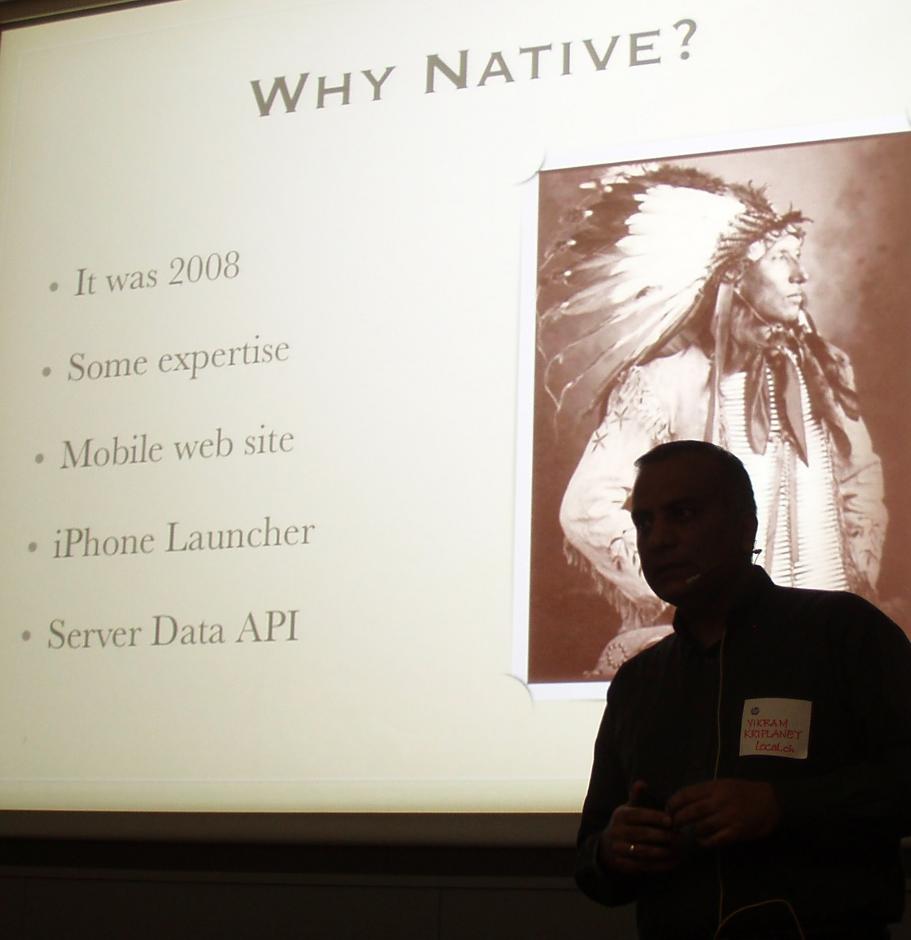 Local.ch's Vikram Kriplaney on native mobile apps development speaking at Mobile Monday Zurich