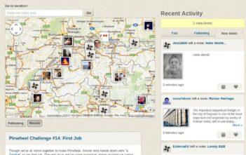 Homepage-Screenshot von Pinwheel.com