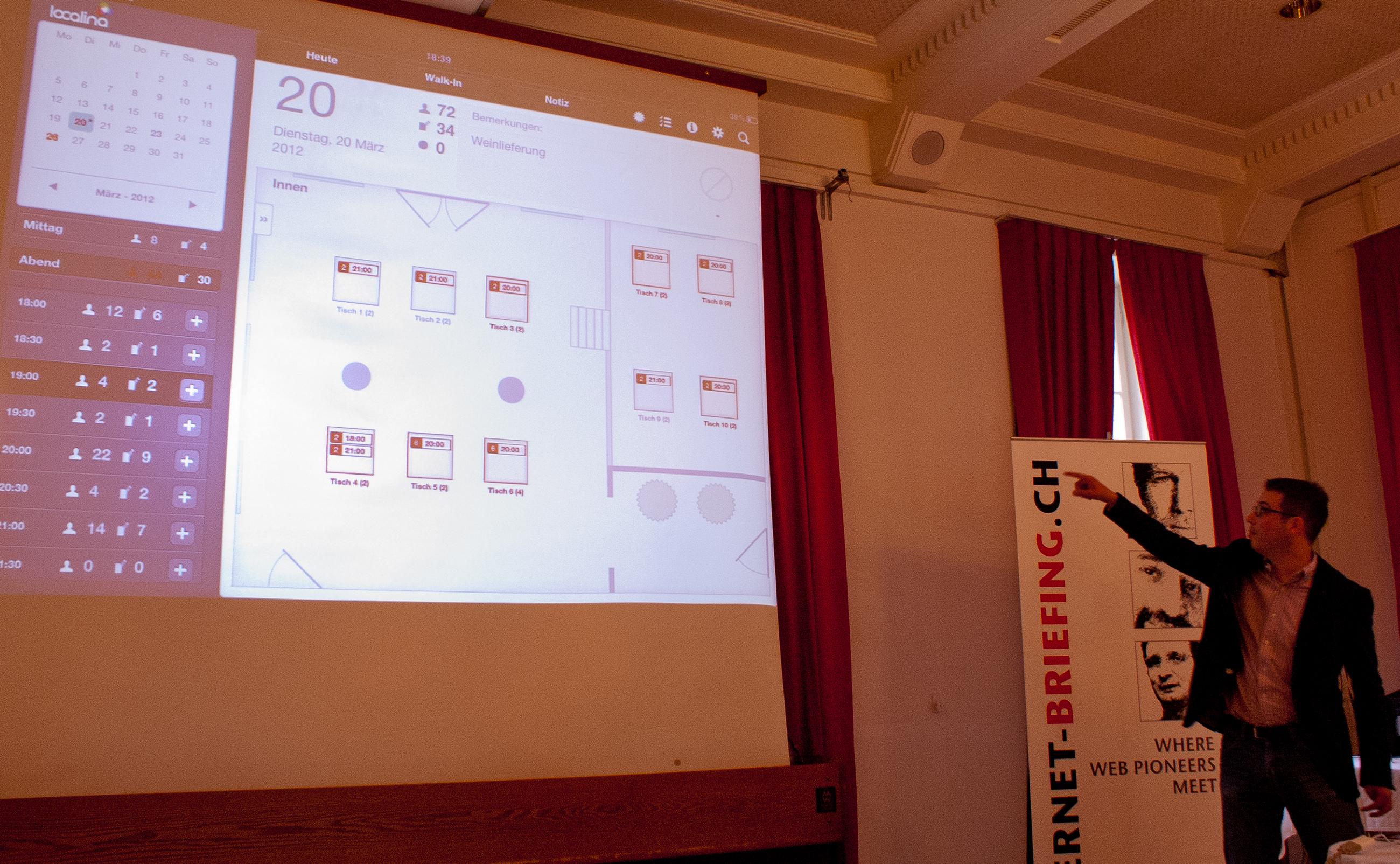 localina.com Tischreservationssystem für Restaurants von David Nydegger