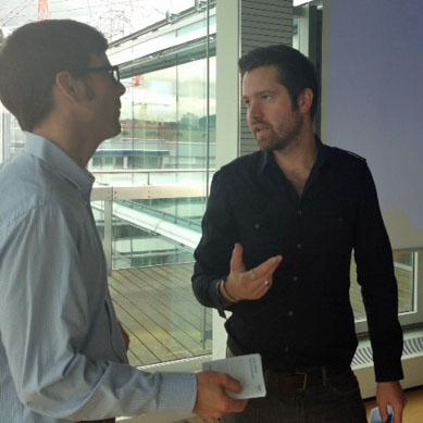 Mike Zwahlen von Google+ im Gespräch mit Thomas Moll von Tamedia