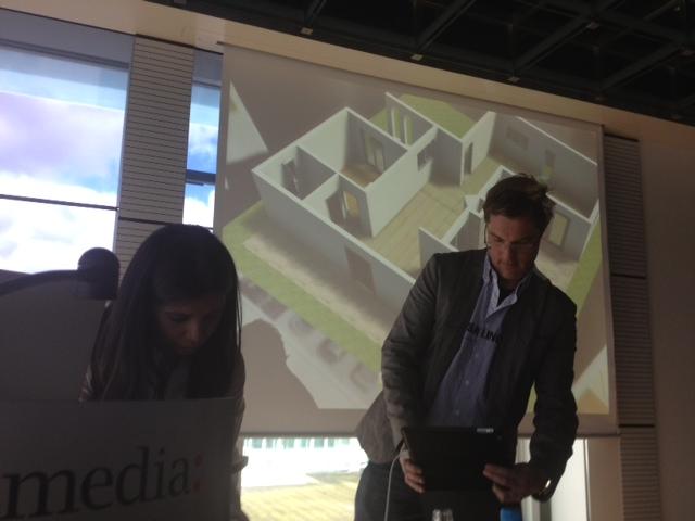 Virtual building presentation via augmented reality