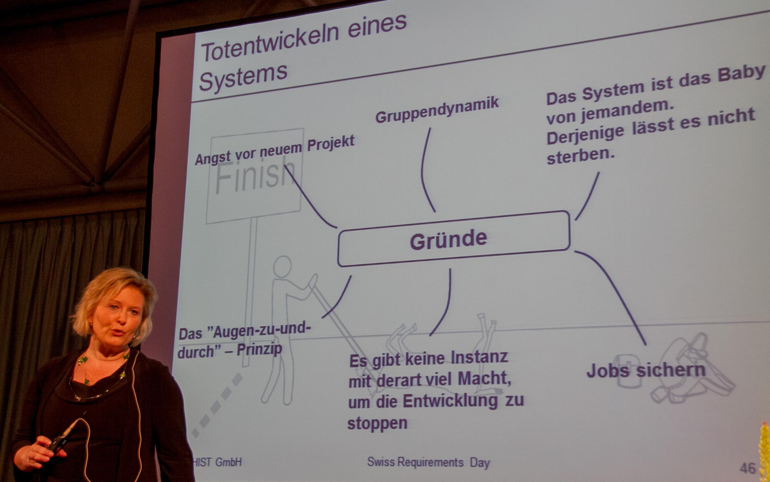 Chris Rupp: Gründe für das Totentwickeln eines IT-Projekts (Vortrag-Slides)