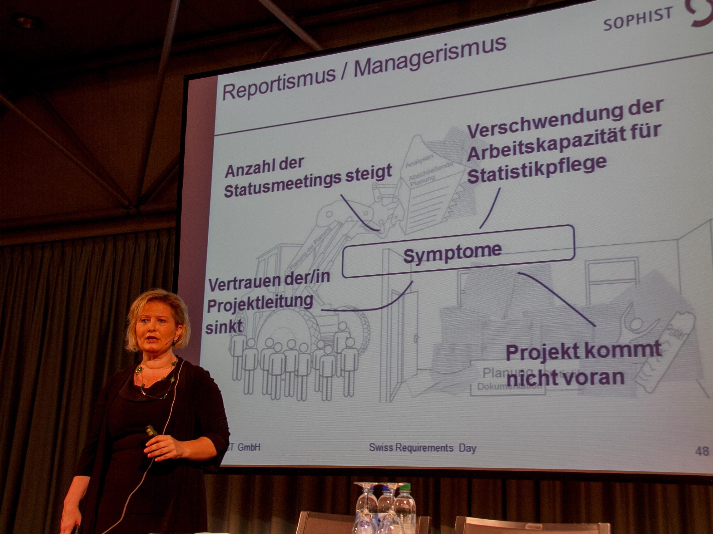 Chris Rupp: Symptome von Reportismus/Managerismus (Vortrag-Slides)