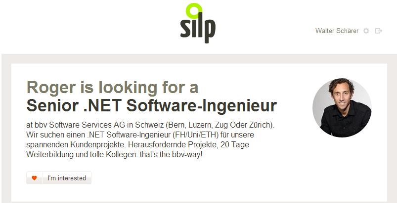 Silp.com Job-Empfehlung-weiterleiten