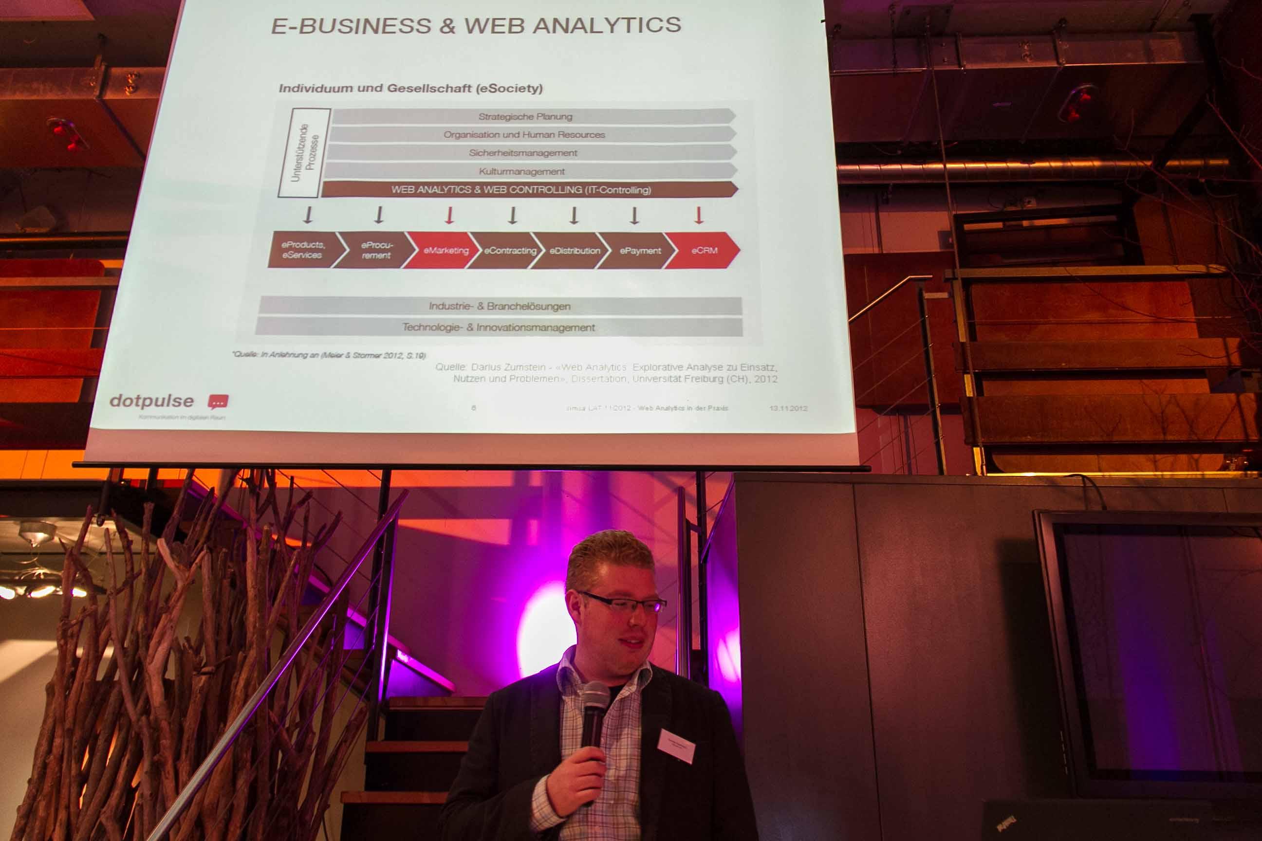 Web-Analytics Nicolas-Kaufmann von dotpulse in der Blumenhalle Zürich