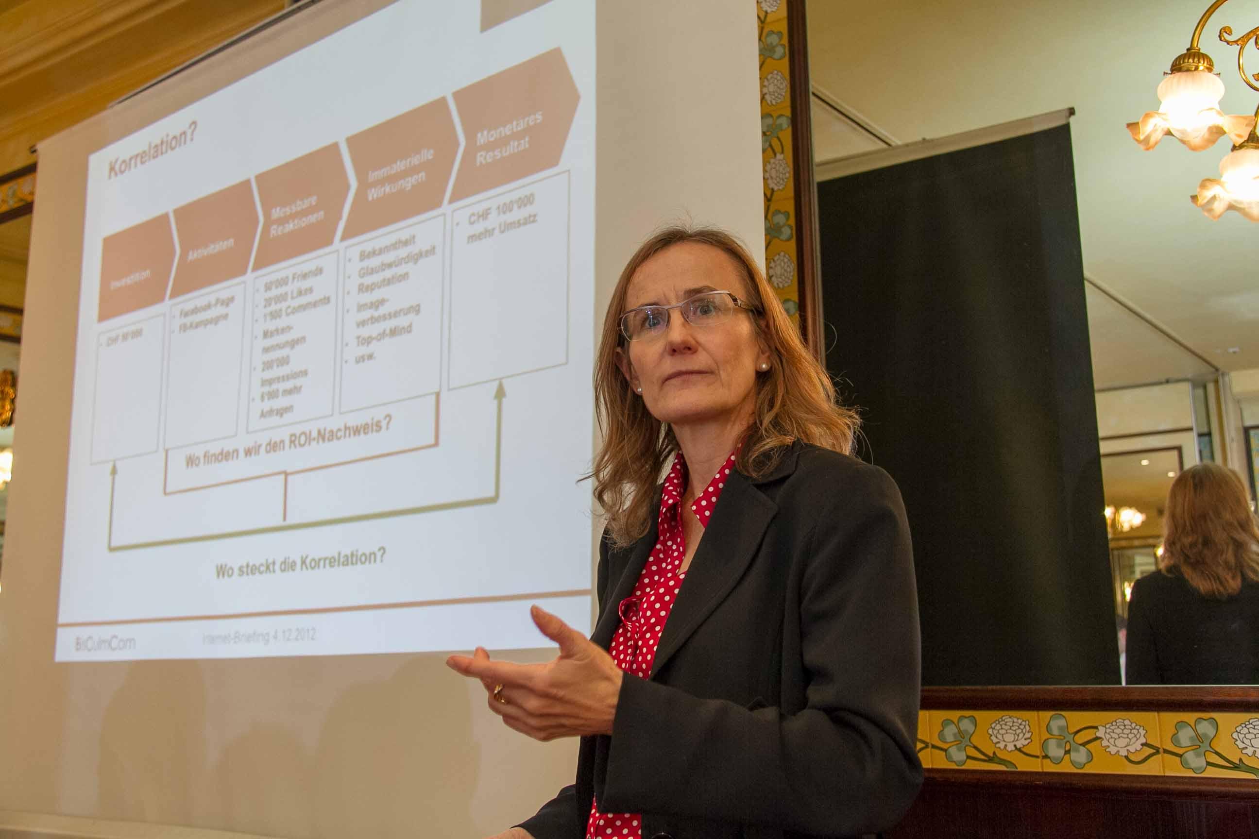 Bernadette Bisculm: Korrelation von Massnahmen und ROI
