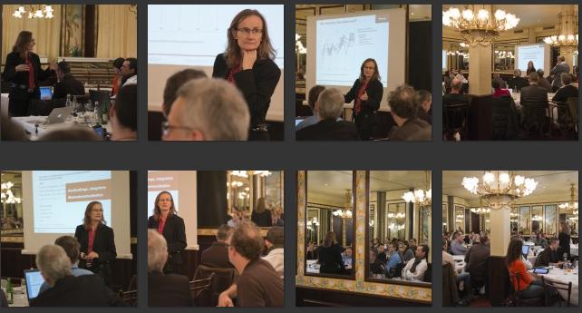 Fotos von Barbara Willi vom Vortrag ROI-Social-Media von Bernadette Bisculm am Internet-Briefing