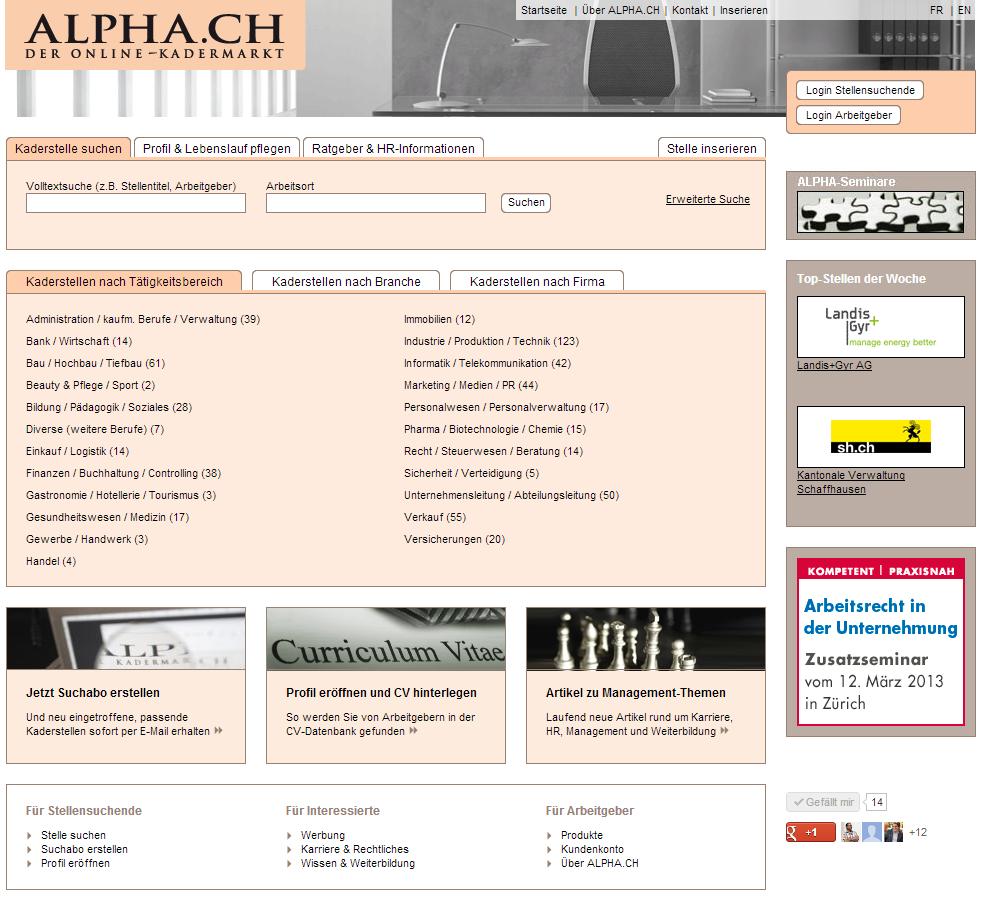 ALPHA.CH Homepage