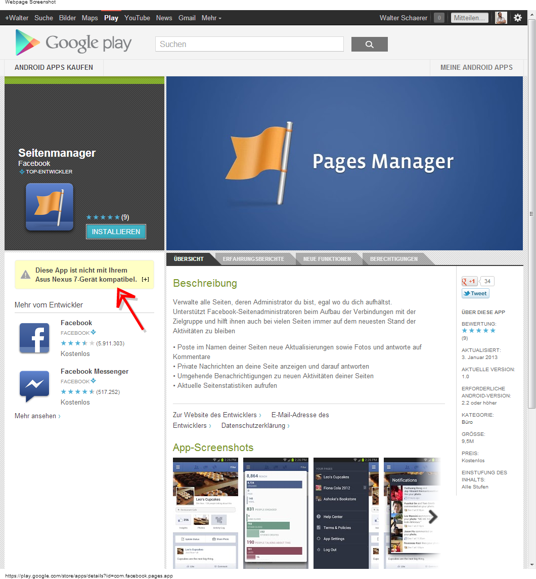 Facebook Seitenmanager - Android Apps auf Google Play