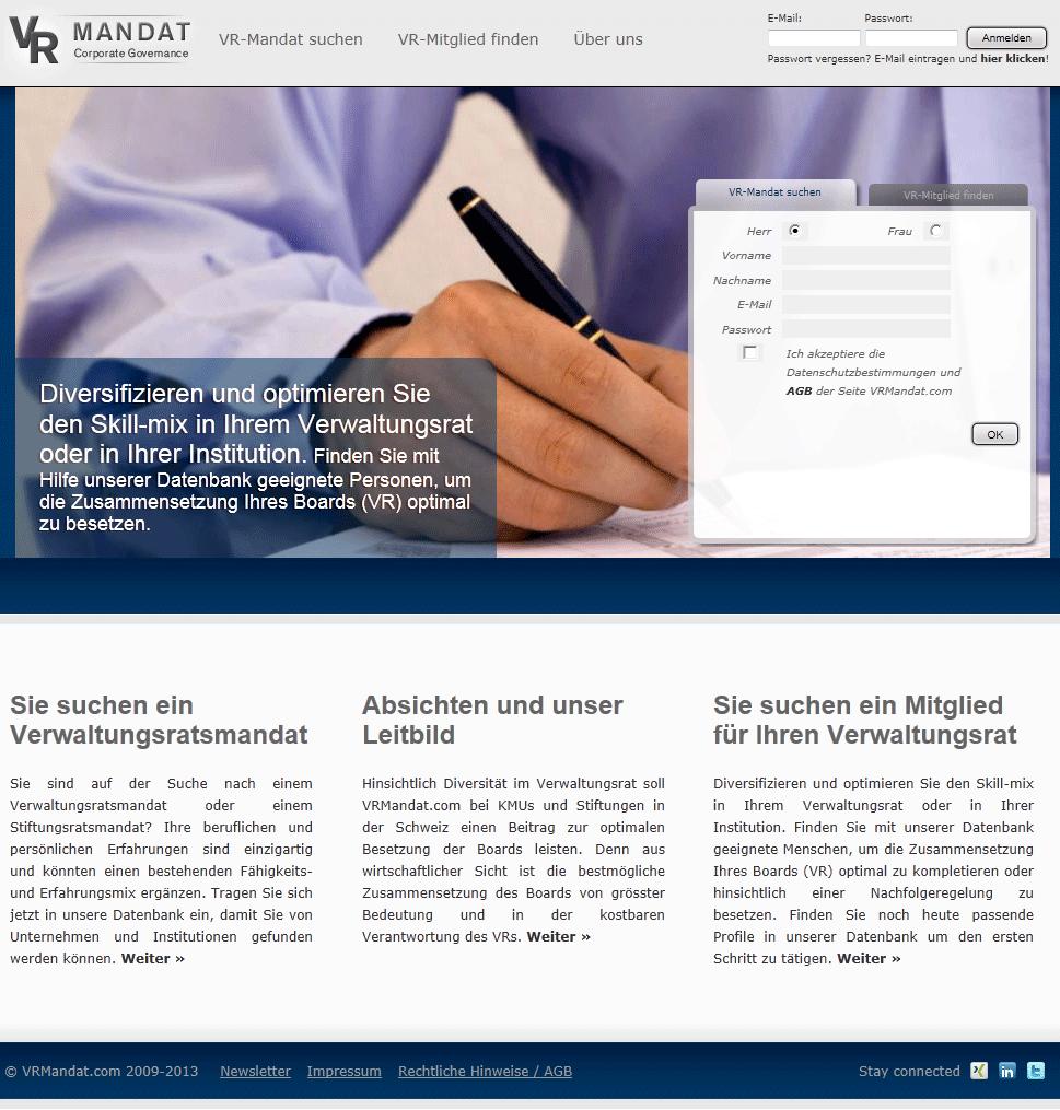 VRMandat.com Homepage