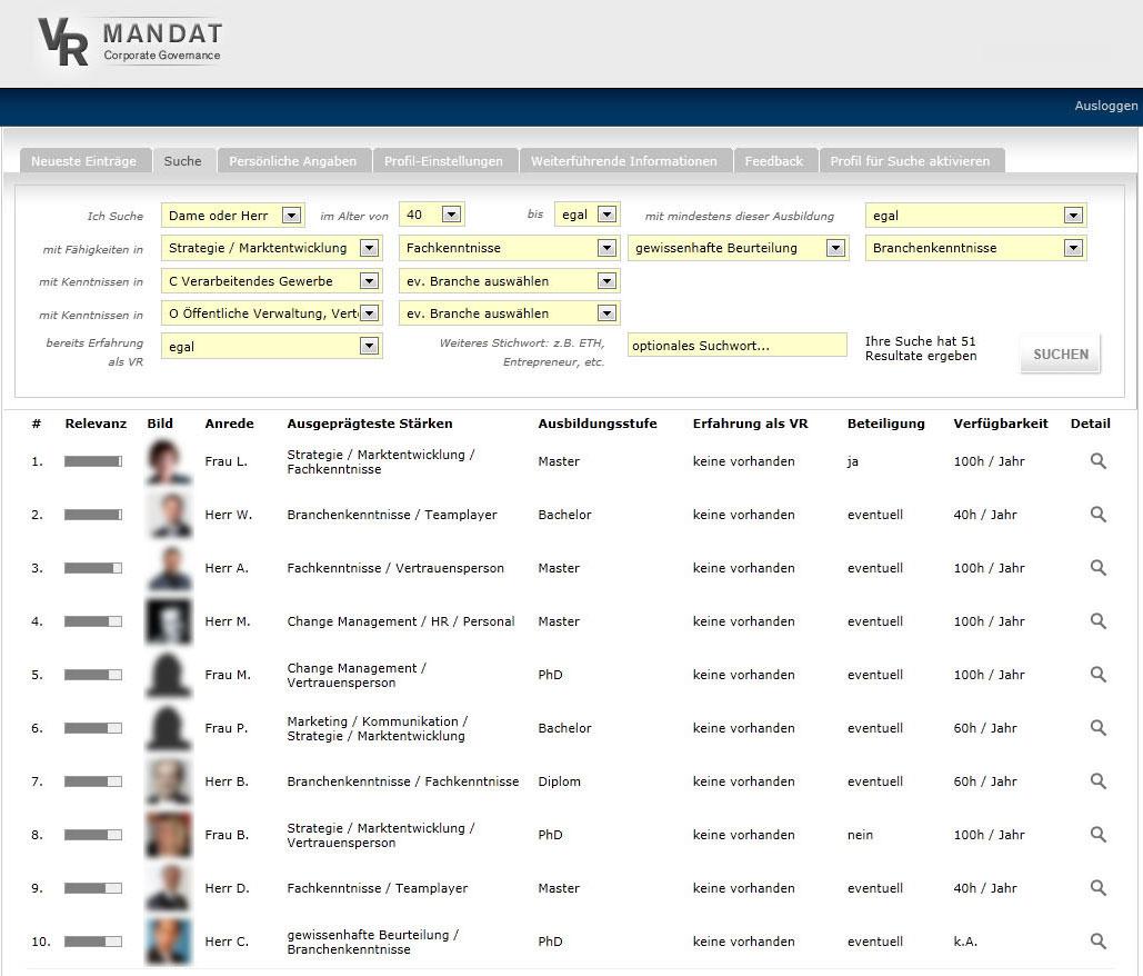 VRMandat-Verwaltungsrat-Datenbank