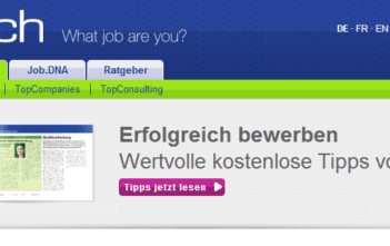 jobs.ch Homepage Banner
