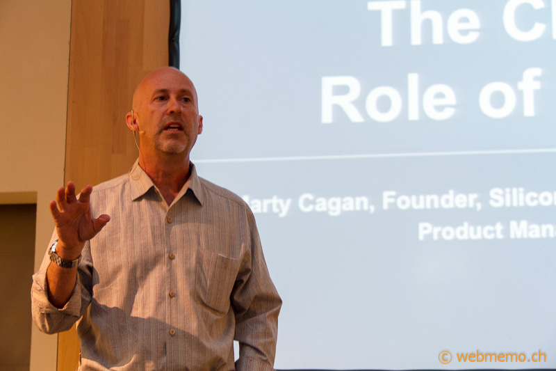 Marty Cagan presenting 10 principles of product management