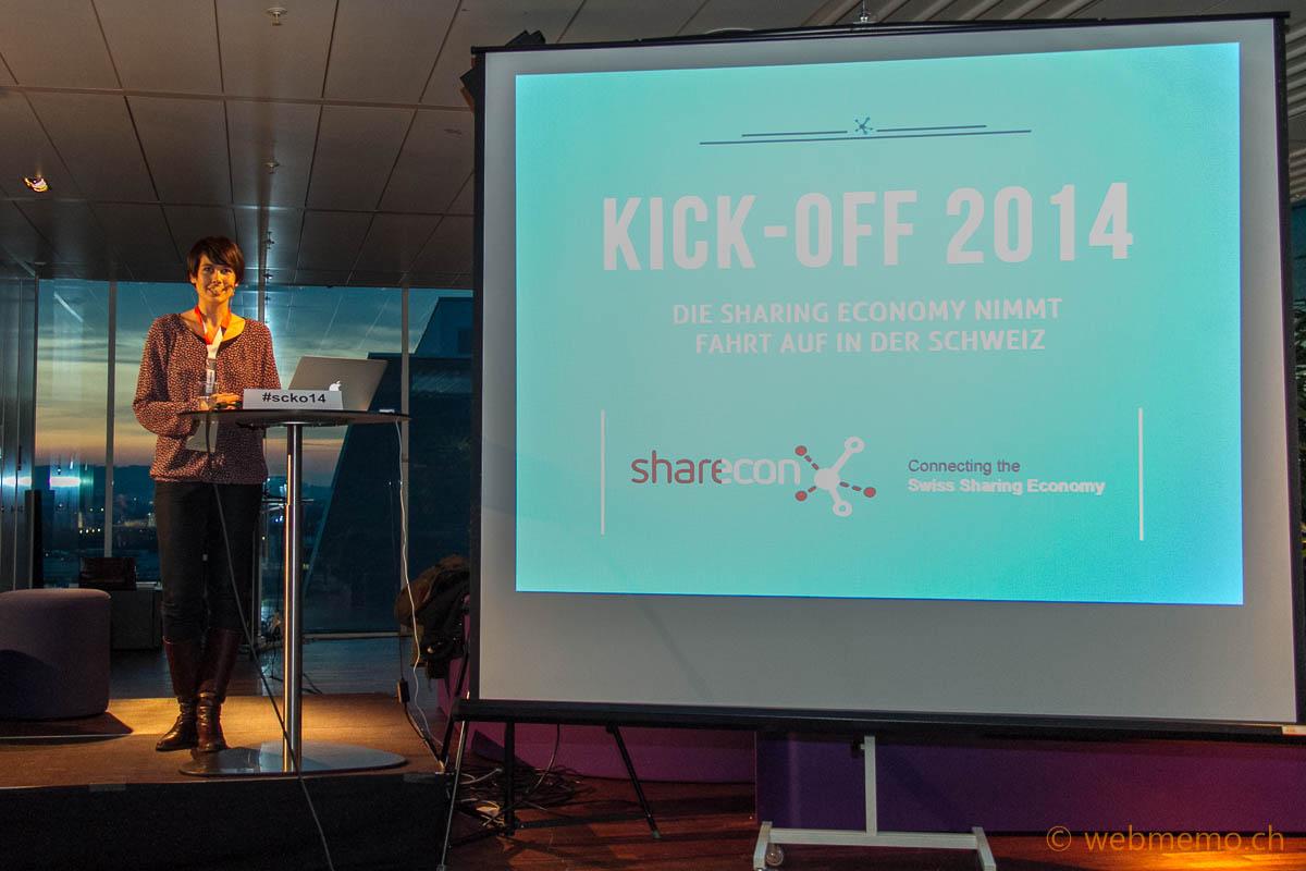 Danja Gerhardt moderiert den Kick-off 2014 der Sharecon
