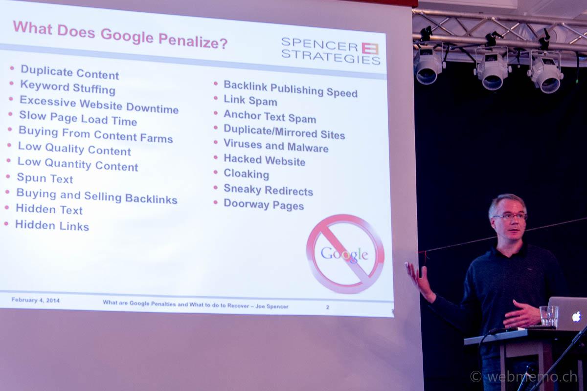 Joe Spencer über Google Penalties