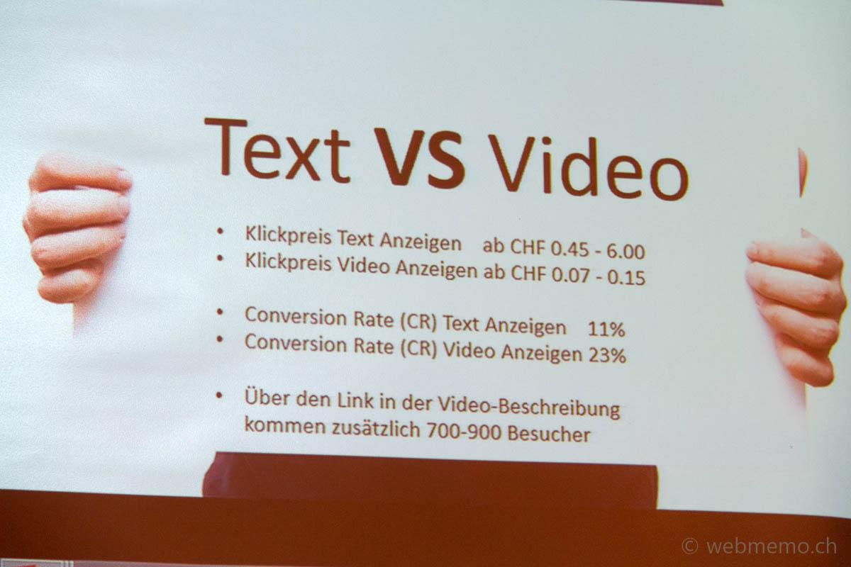 Text vs. Video Konversion