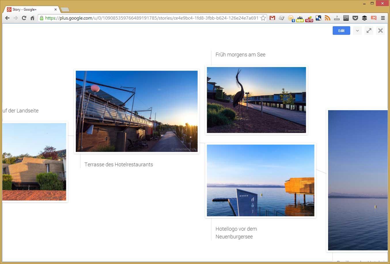 Bildgallerie im Layout mit Bildlegenden von Google Stories