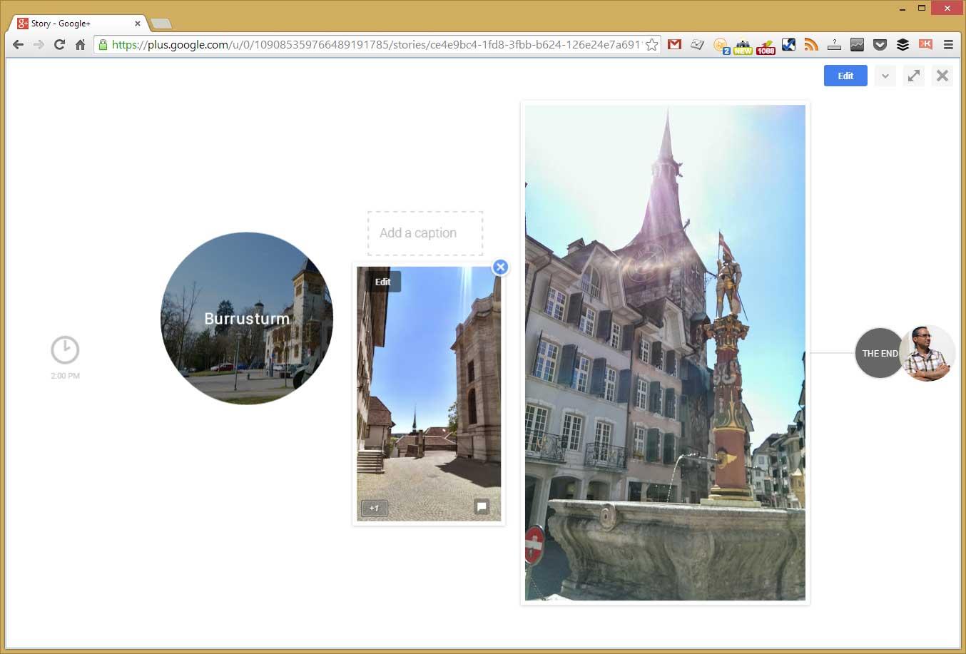 Von Google-Stories automatisch erkannter Burrusturm in Solothurn