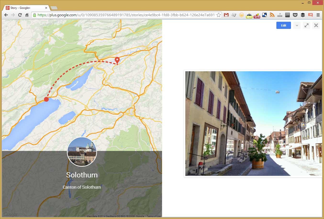 Automatisch generierte Kartenausschnitte in Google Stories