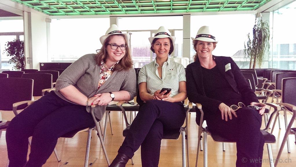 Blogger-Gruppenfoto v.l. Nicole Nobs von Xeit, Su Franke und Sandra Bornand von Corporate Communication