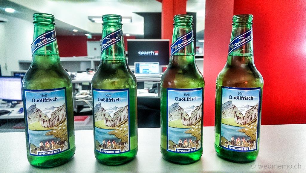 Quöllfrisch Bier im Büro von search.ch