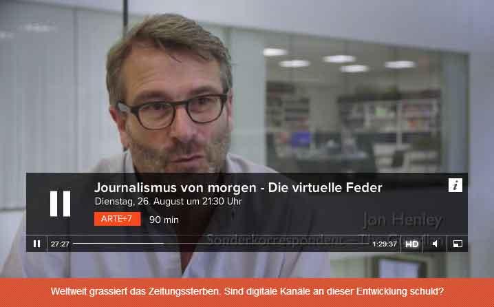 Jon Henley vom Guardian: Drucken von Zeitungen ist Geldverschwendung