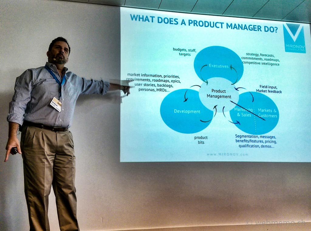 Rich Mironov speaking on what a product manager does