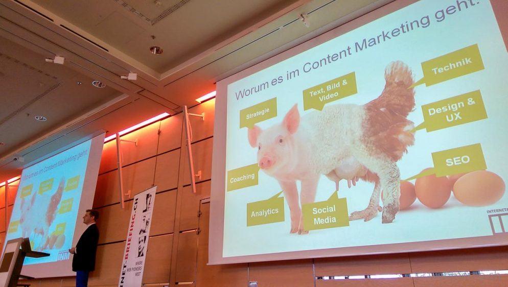 Für Content Marketing relevante Disziplinen gemäss Philippe Sauber