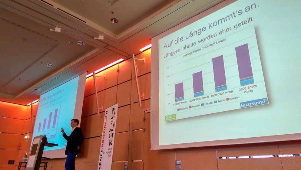 Längere Inhalte werden eher in Social Networks geteilt