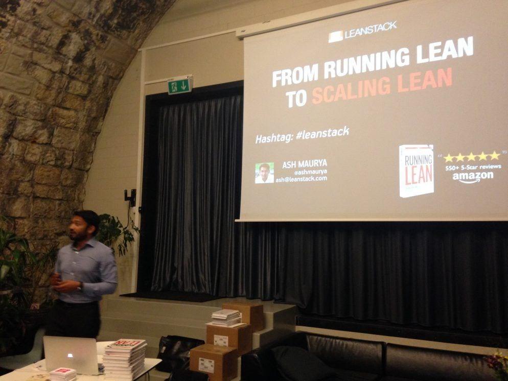 Ash Maurya speaking in Zurich
