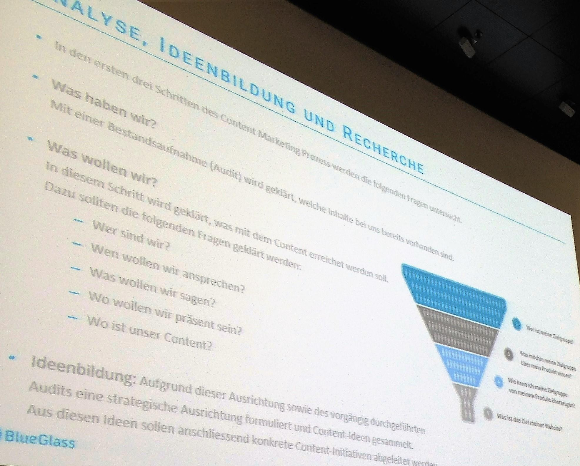 Analyse, Ideenbildung und Recherche für Content Marketing