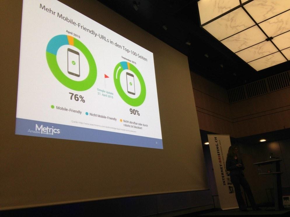 Entwicklung mobil optimierter Webseiten in Google Trefferlisten