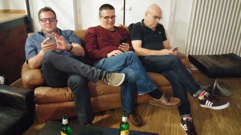 Snapchatter Sigi Bernath, Tom Brühwiler und Roger Hausmann