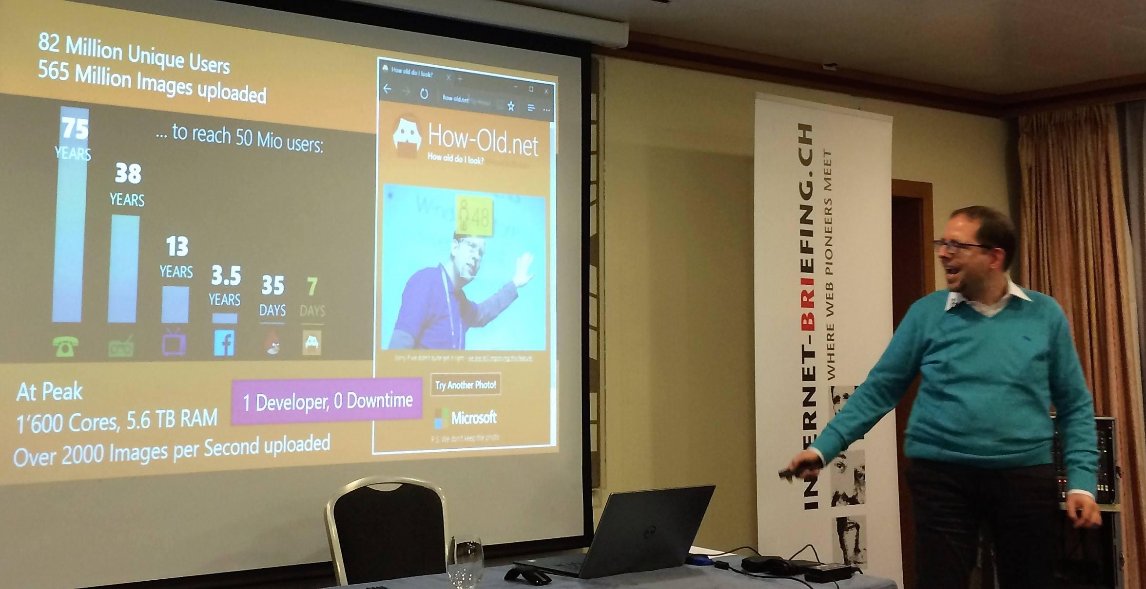 Bilderkennungsdemo von Microsofts how-old.net