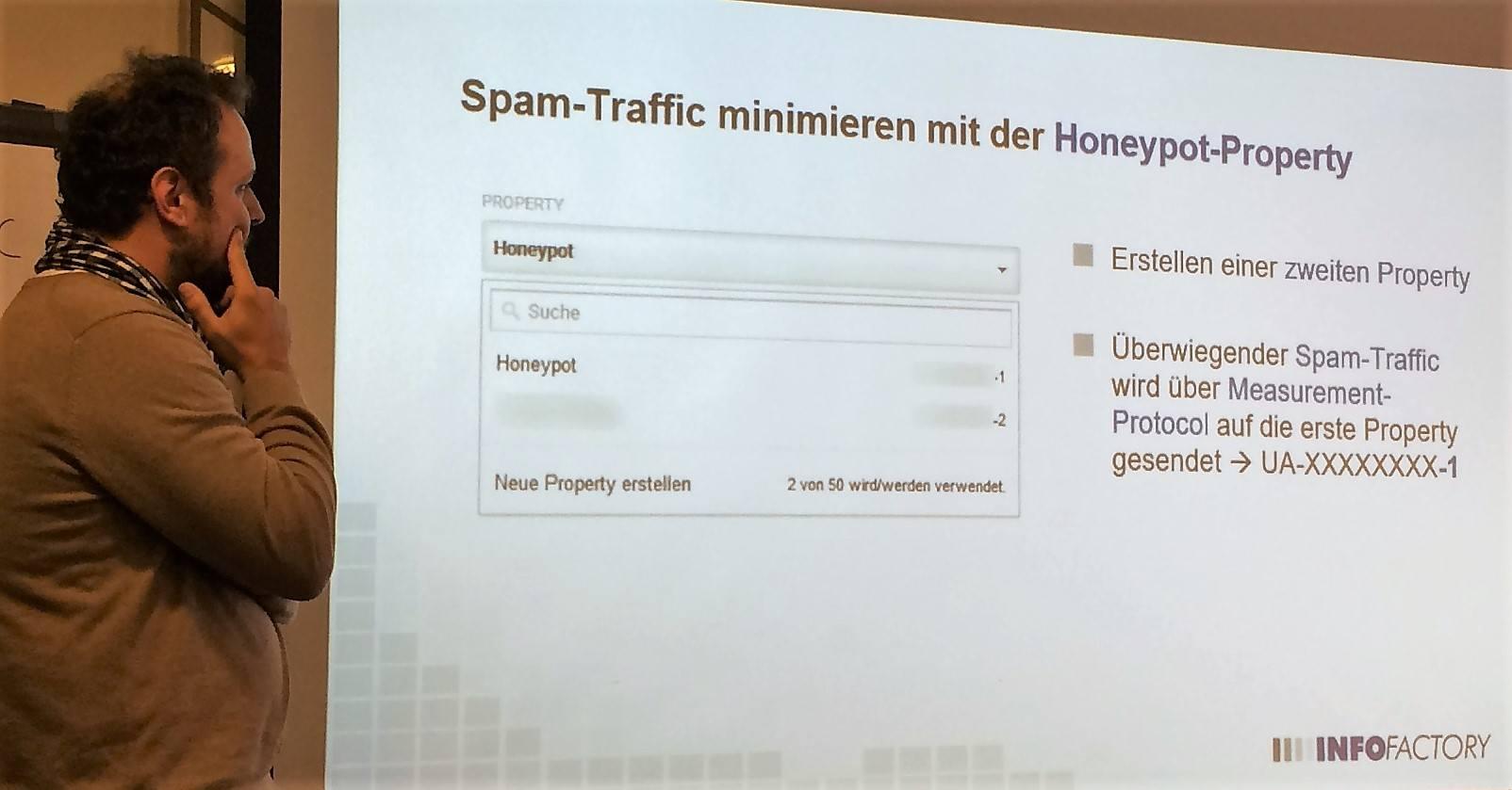 Honeypot-Property für Spam-Traffic Reduktion